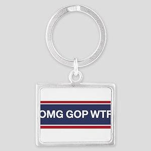 OMG GOP WTF Keychains