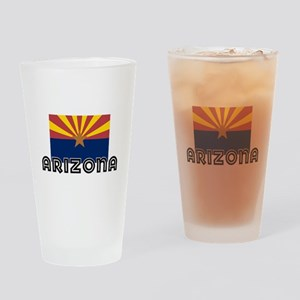 I HEART ARIZONA FLAG Drinking Glass