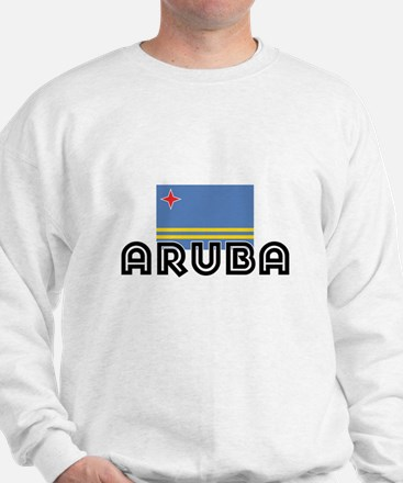 I HEART ARUBA FLAG Sweatshirt