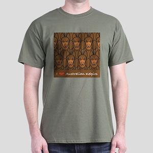 I Love Kelpies Dark T-Shirt