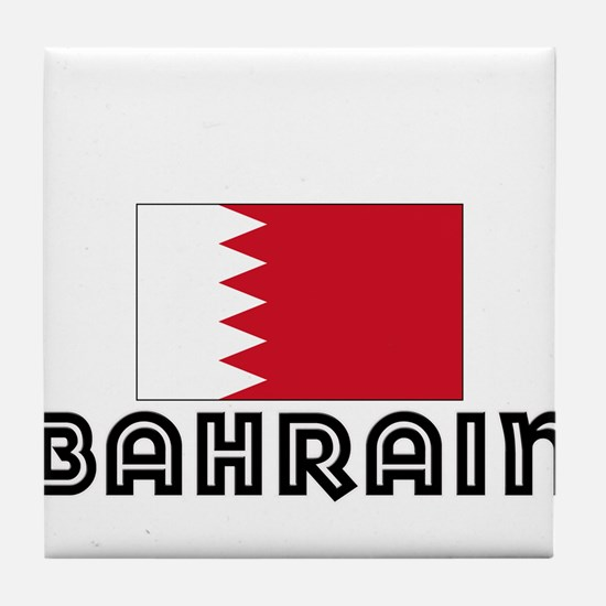 I HEART BAHRAIN FLAG Tile Coaster