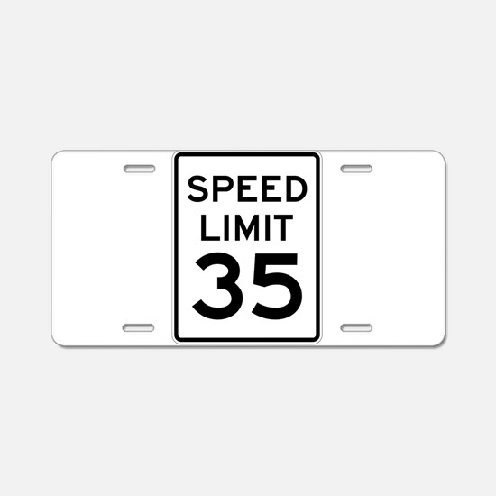 Speed Limit 35 Sign Aluminum License Plate