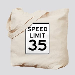 Speed Limit 35 Sign Tote Bag