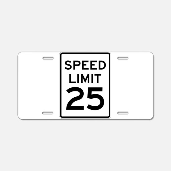 Speed Limit 25 Sign Aluminum License Plate