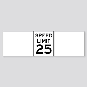 Speed Limit 25 Sign Bumper Sticker