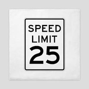 Speed Limit 25 Sign Queen Duvet