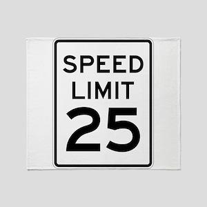 Speed Limit 25 Sign Throw Blanket