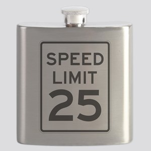 Speed Limit 25 Sign Flask