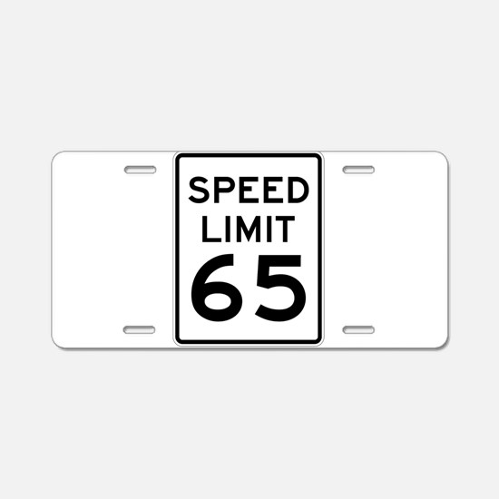 Speed Limit 65 Sign Aluminum License Plate