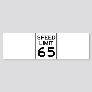 Speed Limit 65 Sign Bumper Sticker
