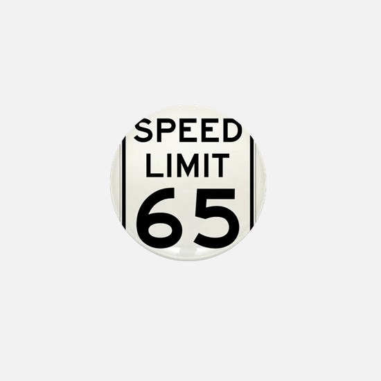 Speed Limit 65 Sign Mini Button