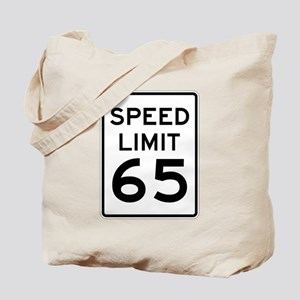Speed Limit 65 Sign Tote Bag