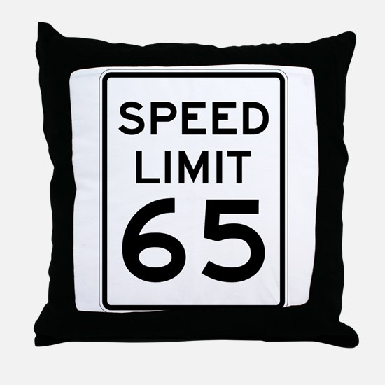 Speed Limit 65 Sign Throw Pillow