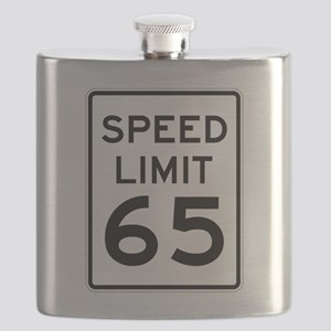 Speed Limit 65 Sign Flask