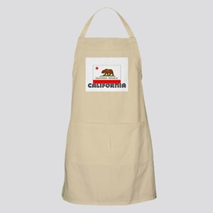 I HEART CALIFORNIA FLAG Apron