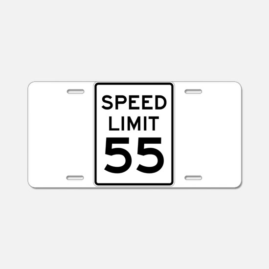 Speed Limit 55 Sign Aluminum License Plate