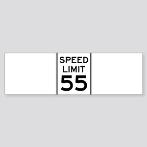 Speed Limit 55 Sign Bumper Sticker