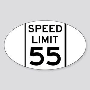 Speed Limit 55 Sign Sticker