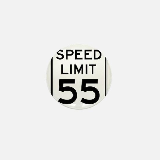 Speed Limit 55 Sign Mini Button