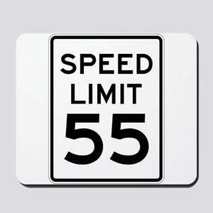 Speed Limit 55 Sign Mousepad