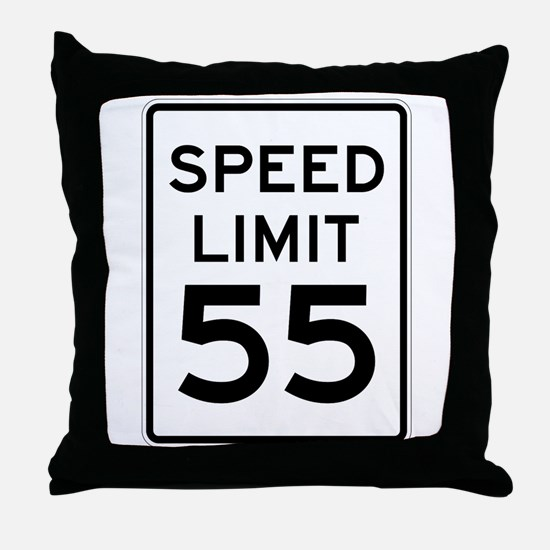 Speed Limit 55 Sign Throw Pillow