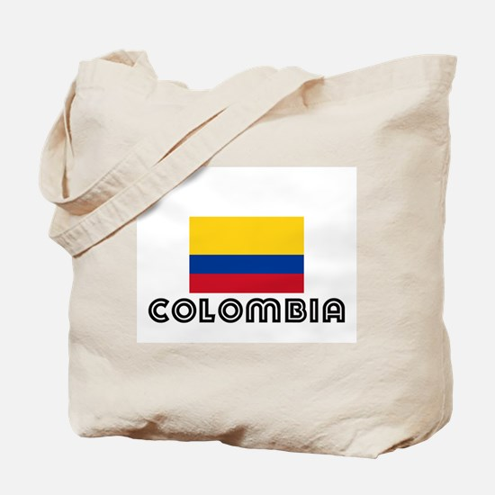 I HEART COLOMBIA FLAG Tote Bag