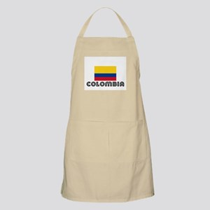 I HEART COLOMBIA FLAG Apron