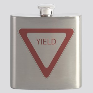 Yield Sign Flask