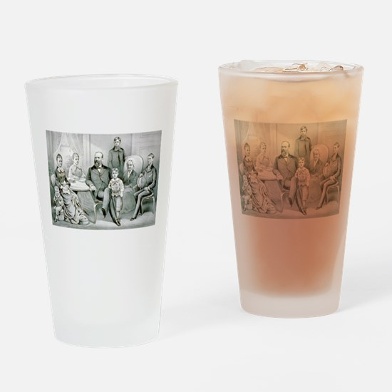The Garfield family - 1882 Drinking Glass
