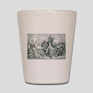 The Garfield family - 1882 Shot Glass