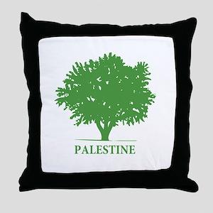 Palestine olive tree Throw Pillow