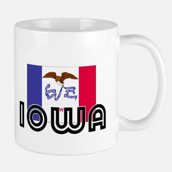 I HEART IOWA FLAG Mug