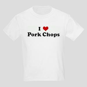 I Love Pork Chops Kids T-Shirt