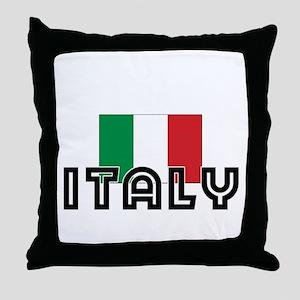 I HEART ITALY FLAG Throw Pillow