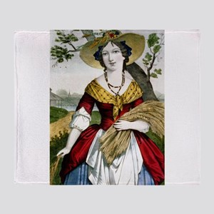 The farmers daughter - 1900 Throw Blanket
