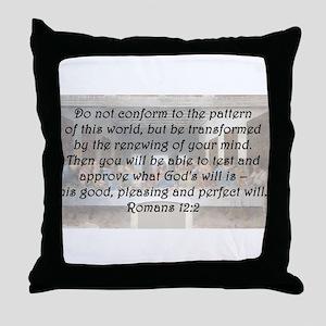 Romans 12:2 Throw Pillow