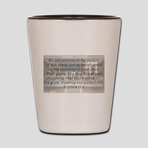 Romans 12:2 Shot Glass