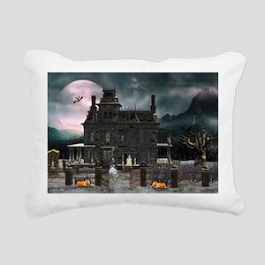 Haunted House 1 Rectangular Canvas Pillow