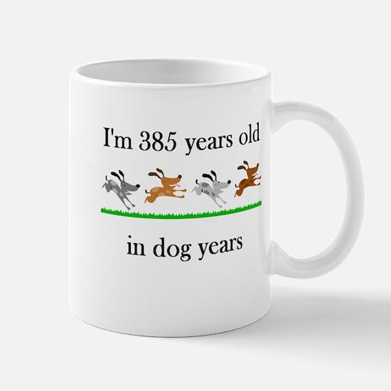 55 dog years birthday 1 Mug