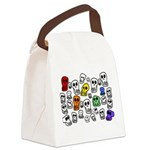 Rainbow Skulls Canvas Lunch Bag
