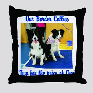 Our Border Collies, Two for the Price of One Throw