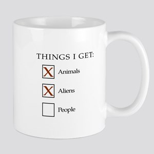 Things I get - aliens, not people Small Mug