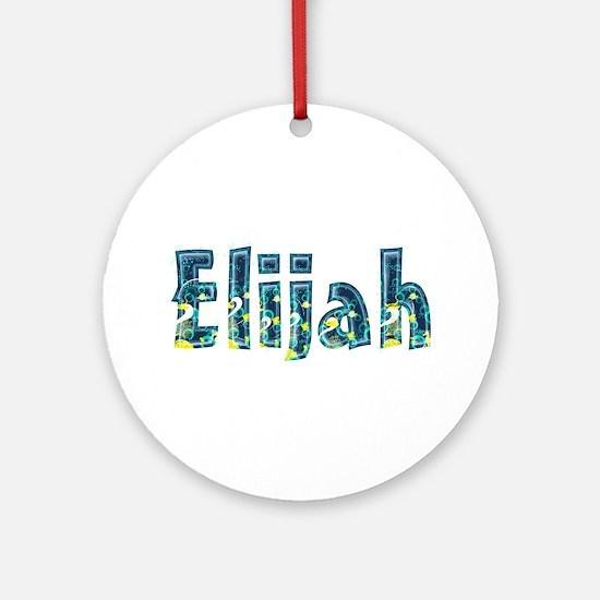 Elijah Under Sea Round Ornament