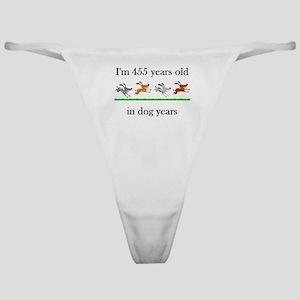 65 dog years birthday 1 Classic Thong