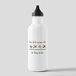 65 dog years birthday 1 Water Bottle