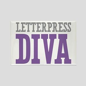 Letterpress DIVA Rectangle Magnet