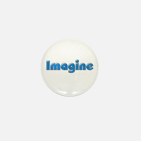 Imagine Blue Mini Button