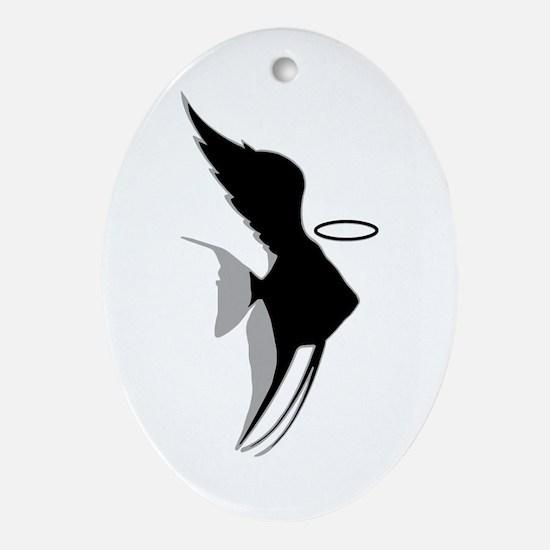 Angel Fish Ornament (Oval)