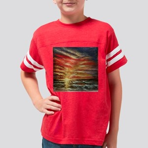 Sunset Trinket Box Youth Football Shirt