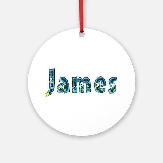 James Under Sea Round Ornament